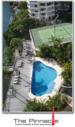 The Pinnacle Apartments Pool & Tennis Court